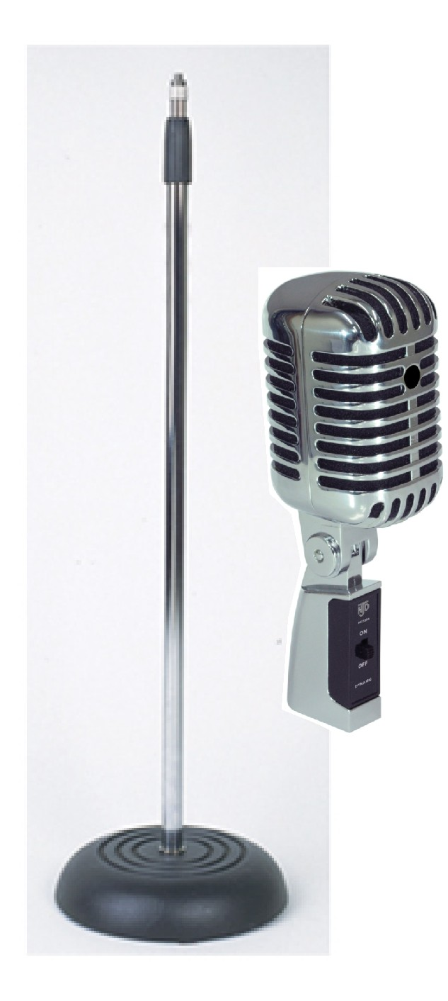 NJD Vintage Style Elvis Retro Microphone with Padded Case ... Retro Microphone With Stand