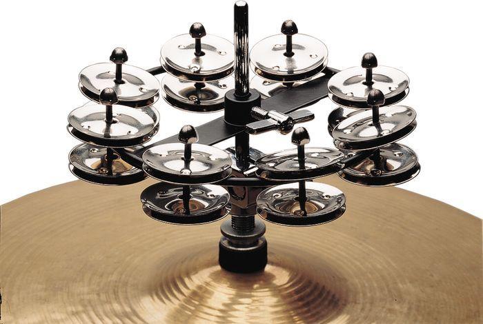 rhythm tech rt7402 hat trick hi hat double jingle tambourine. Black Bedroom Furniture Sets. Home Design Ideas
