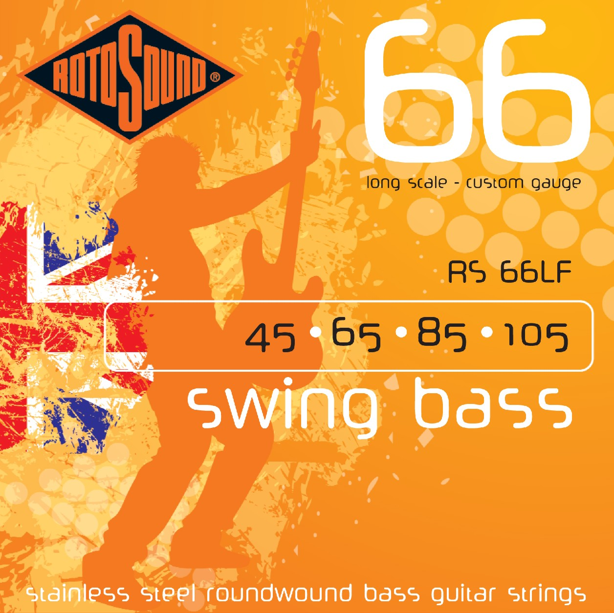 rotosound rs66lf swing bass long scale custom gauge strings. Black Bedroom Furniture Sets. Home Design Ideas