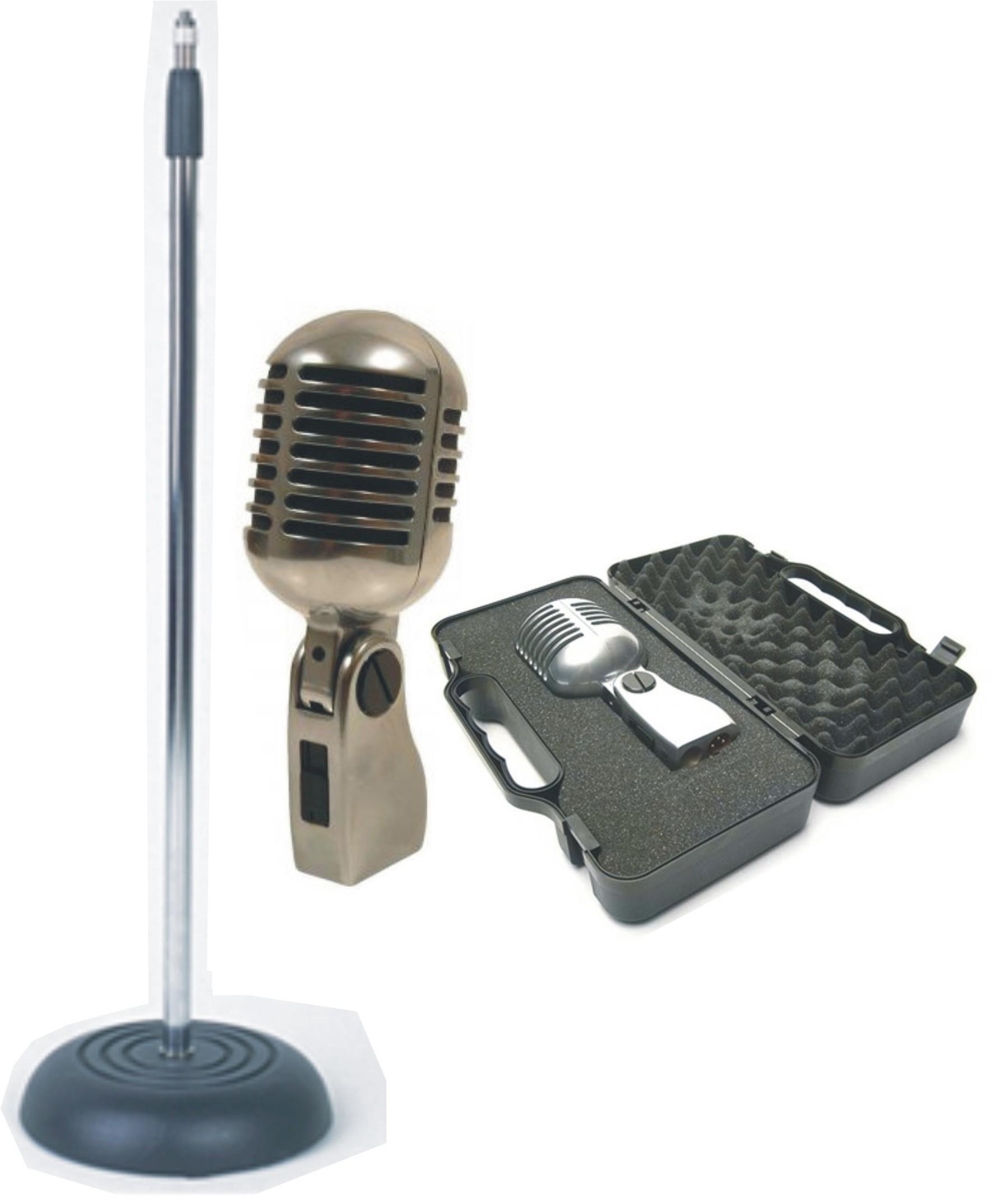 YOGA Vintage Style Elvis Retro Microphone & Matching Stand ... Retro Microphone With Stand