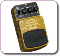 Behringer Acoustic Modeller AM100 Effects Pedal Stomp Box