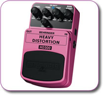 Behringer Heavy Distortion HD300 Pedal Stomp