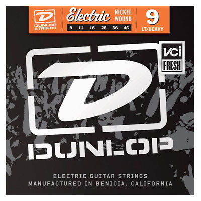 DUNLOP ELECTRIC GUITAR STRINGS LIGHT HEAVY 9-46