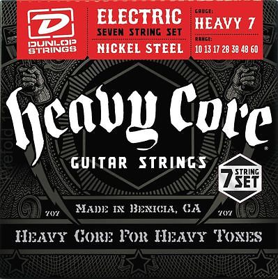 Dunlop Heavy Core Heavy 7  Electric Guitar Strings .010 - .060 (7 String set)