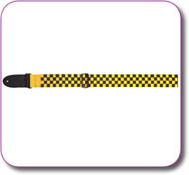 EAGLE MOUNTAIN BLACK & YELLOW WEBBING GUITAR STRAP