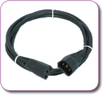 IEC-IEC Hot Cold Extension Lead Cable 1 metre