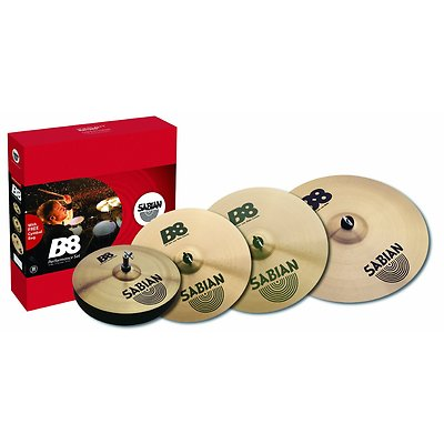 "Sabian B8 Performance Cymbal Set 14"" Hats 16"" & 18"" Crash 20"" Med Ride SAB45003G"