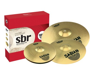 "Sabian SBR Performance Cymbal Set 14"" Hats 16"" Crash 20"" Ride  SABSBR5003"