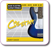 Set of 4 Bass Guitar Strings Heavy Gauge 050-105