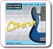 Set of 4 Bass Guitar Strings Medium Gauge 040-095
