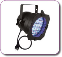 Showtec RGB PAR 56 Led Parcan Black Incl filter frame