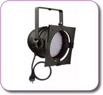 Showtec RGB Par 64 Led Parcan Black Incl Filter Frame