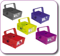 SoundLAB 14W Plastic Mini Strobe choice of colours