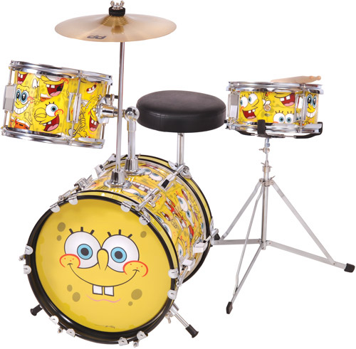 Spongebob Squarepants 3 Piece Junior Drum Set Complete