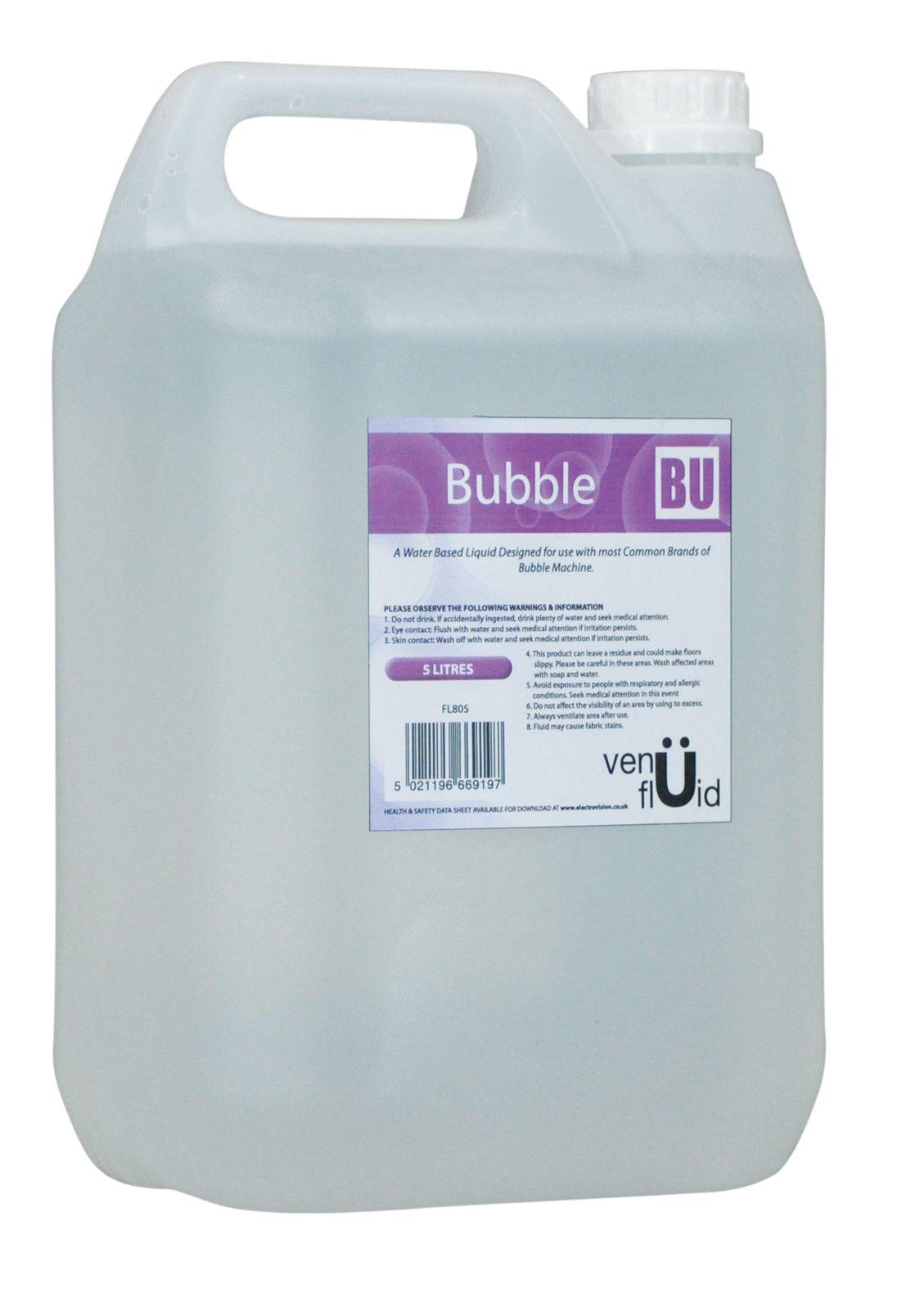 Venu Bubble Fluid 5 Litres suitable for all bubble machines